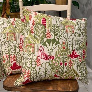 Pottery Barn pillows.
